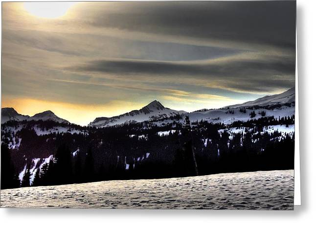 Looking West At Pyramid Peak Greeting Card
