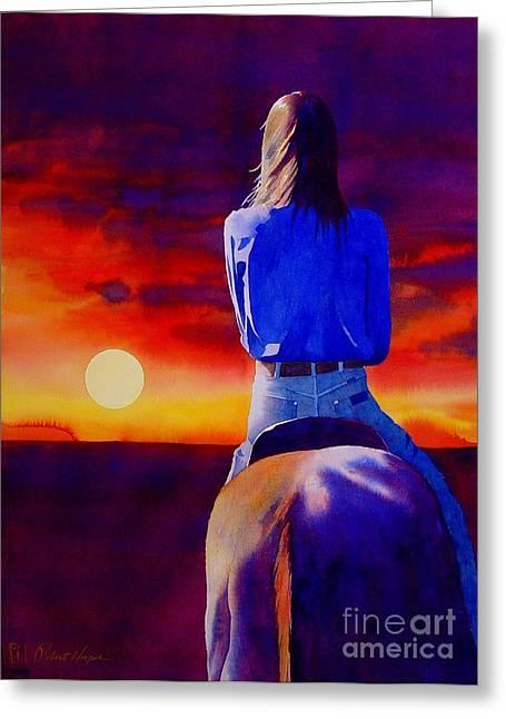 Looking West Greeting Card by Robert Hooper