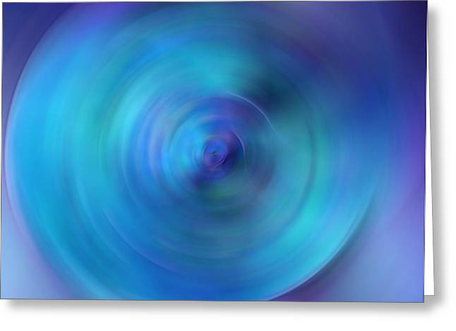 Looking Within - Energy Abstract Art By Sharon Cummings Greeting Card by Sharon Cummings