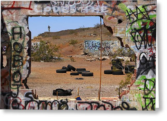 Lookout On Route 66 Greeting Card by Mike McGlothlen