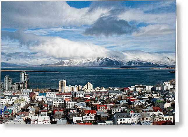 Lookout Over Reykjavik Greeting Card