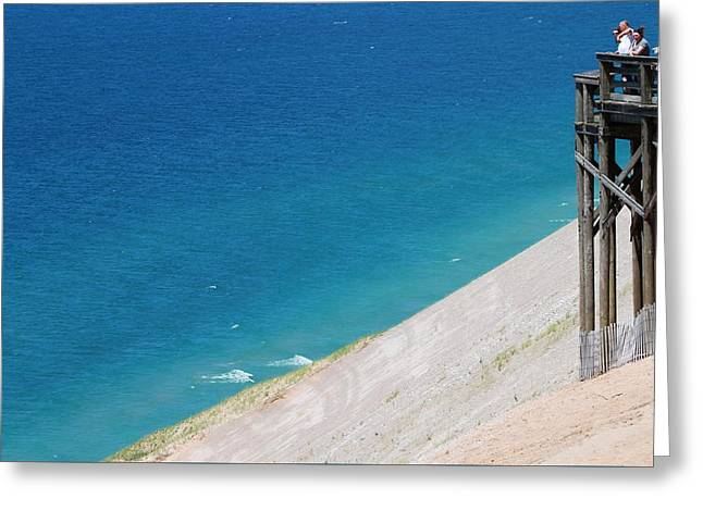 Lookout Tower From Sleeping Bear Dunes Greeting Card