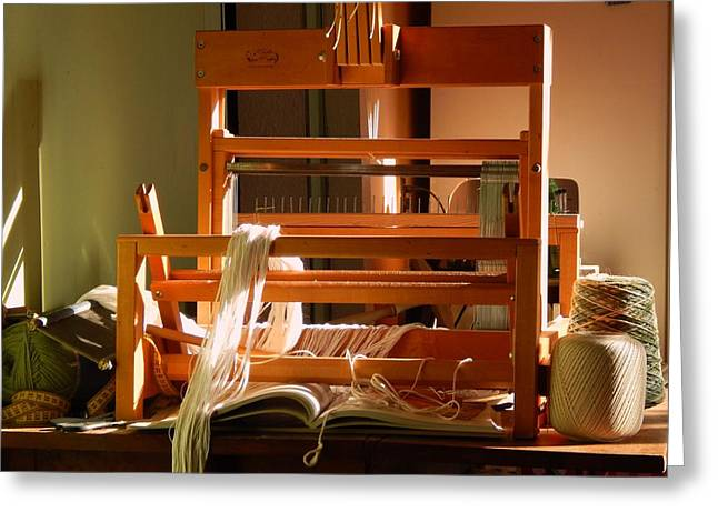 Loom In Winter Light Greeting Card by Aliceann Carlton