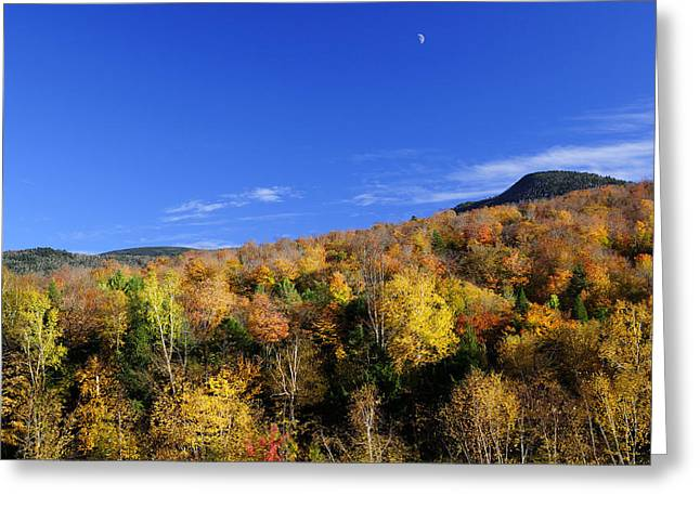 Loon Mountain Foliage Greeting Card by Luke Moore