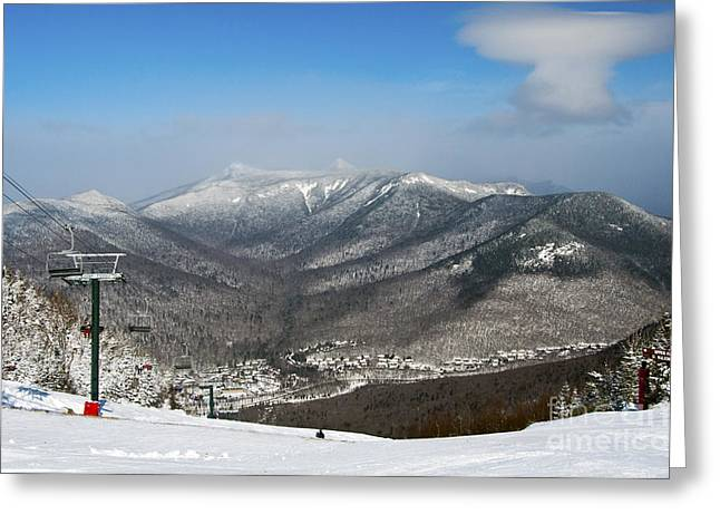Loon Mountain Ski Resort White Mountains Lincoln Nh Greeting Card