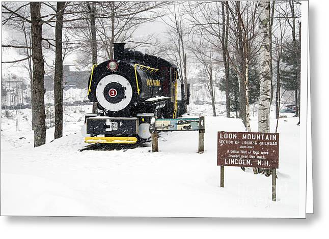 Loon Mountain Train Greeting Card