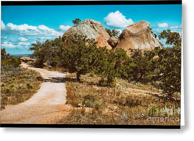 Loop Trail Scenery At Enchanted Rock State Natural Area - Texas Hill Country Greeting Card by Silvio Ligutti