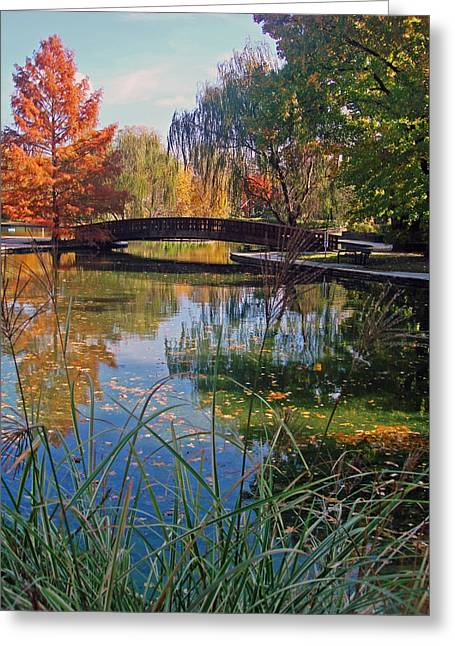 Loose Park In Autumn Greeting Card by Ellen Tully