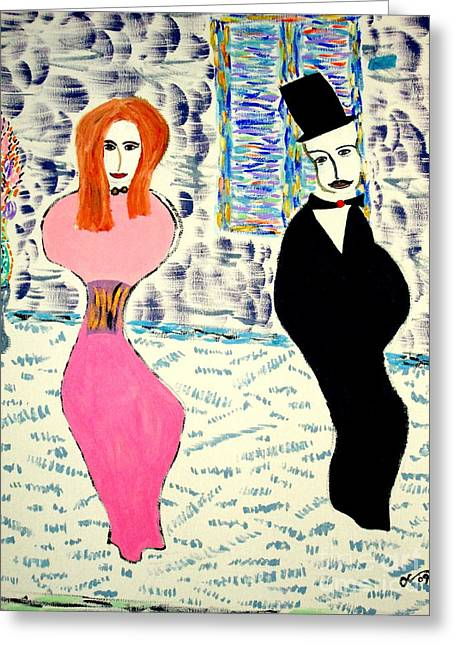 Greeting Card featuring the painting L'opera by Bill OConnor