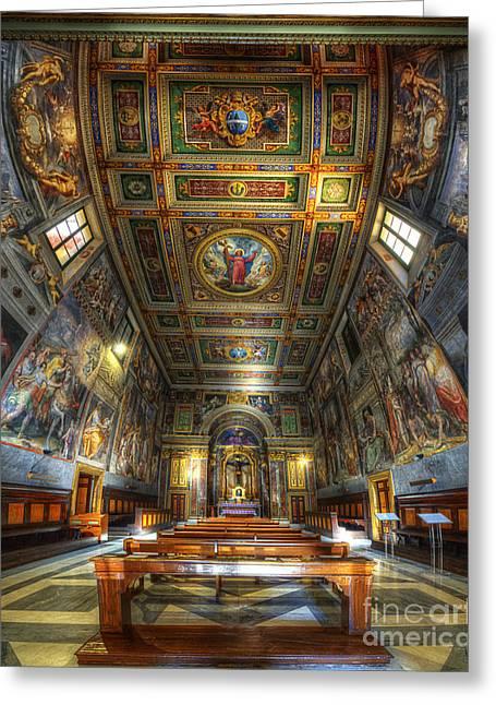 L'oratorio Del Santissimo Crosifisso Greeting Card by Yhun Suarez