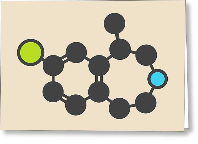 Lorcaserin Obesity Drug Molecule Greeting Card by Molekuul