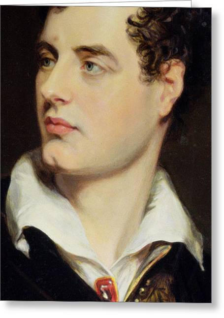 Lord Byron Greeting Card by William Essex