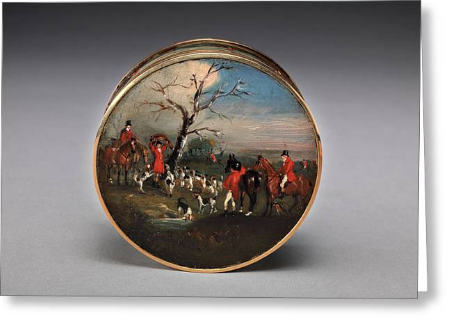Lord Edward Thynne's Snuff Box, Decorated With Foxhunting Greeting Card by Litz Collection