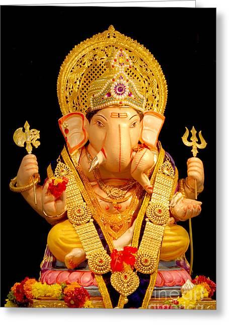 Lord Ganesha Greeting Card by Kiran Joshi