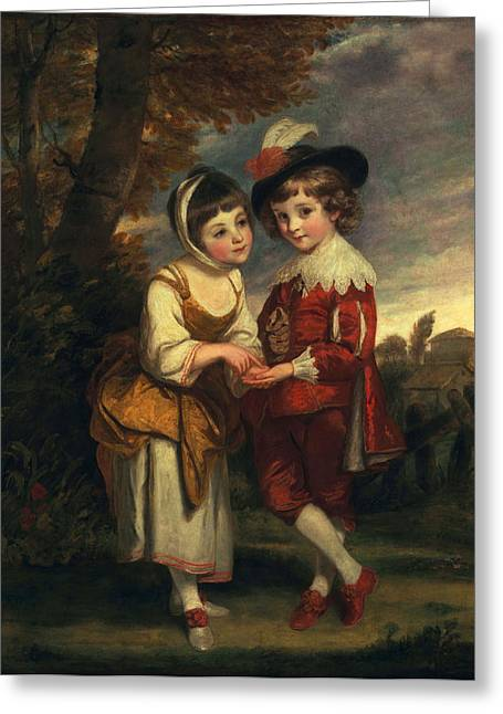 Lord Henry Spencer And Lady Charlotte Greeting Card by Sir Joshua Reynolds