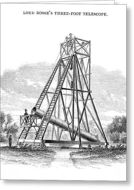 Lord Rosse's 3-foot Telescope Greeting Card by Royal Astronomical Society