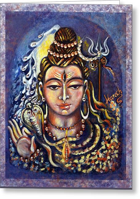 Lord Shiva Greeting Card by Harsh Malik