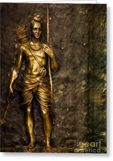 Lord Sri Ram Greeting Card by Kiran Joshi