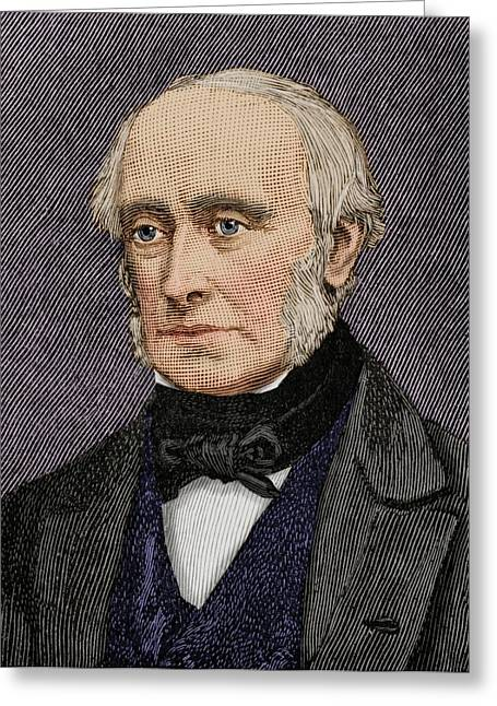 Lord William Armstrong Greeting Card by Maria Platt-evans