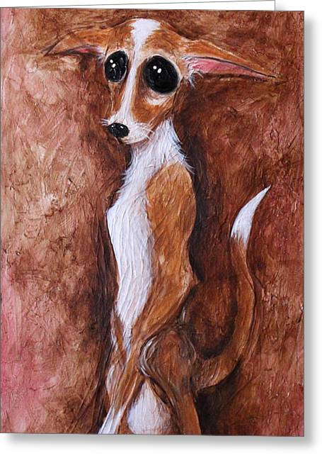 Loretta Chihuahua Big Eyes  Greeting Card