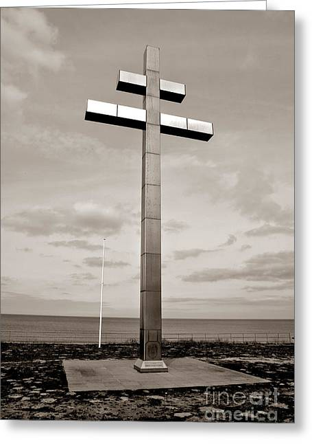 Lorraine Cross In Normandy Greeting Card by Olivier Le Queinec