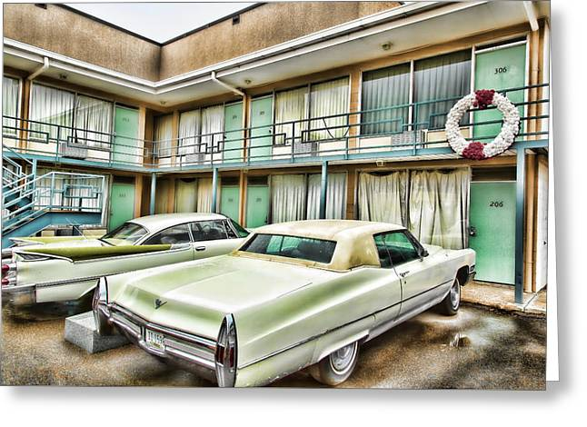 Lorraine Hotel Room 306 Greeting Card by Stephen Stookey