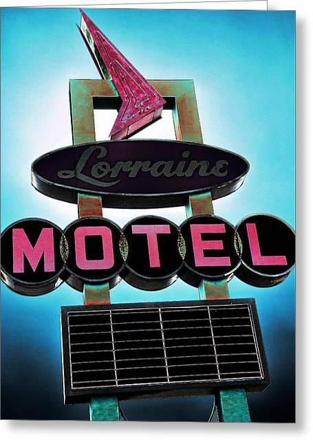 Lorraine Motel Greeting Card by Stephen Stookey