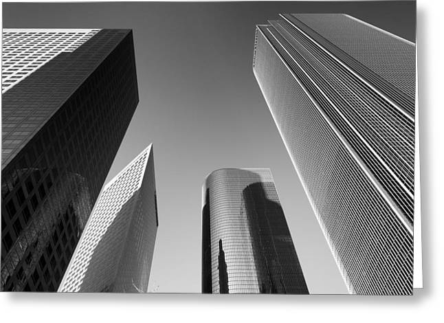 Los Angeles Architecture Greeting Card by Celso Diniz