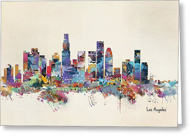 Los Angeles California Skyline Greeting Card