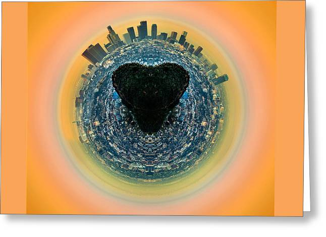 Love La Greeting Card by Az Jackson