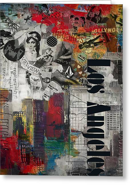 Los Angeles Collage Alternative Greeting Card by Corporate Art Task Force
