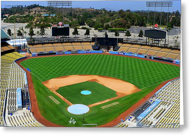 Los Angeles Dodgers Greeting Card by Jeff Lowe