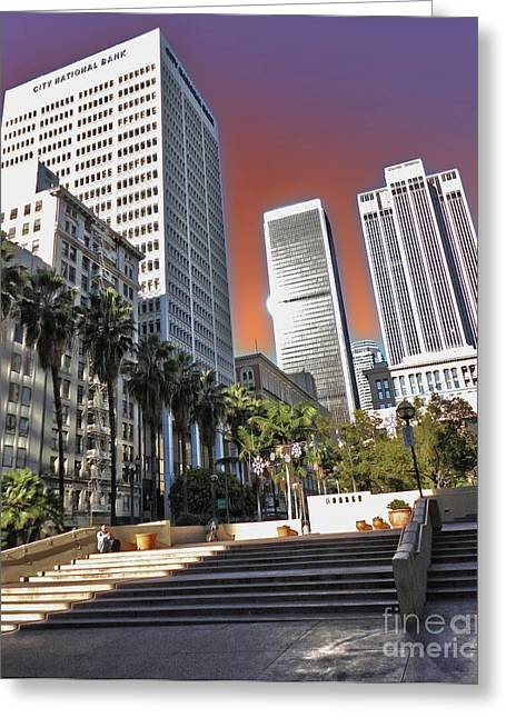 Los Angeles Historic Center Greeting Card by Gregory Dyer