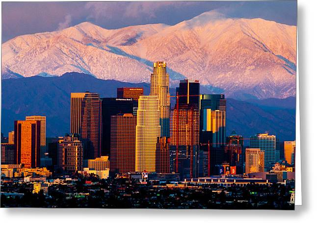Los Angeles In Winter Greeting Card