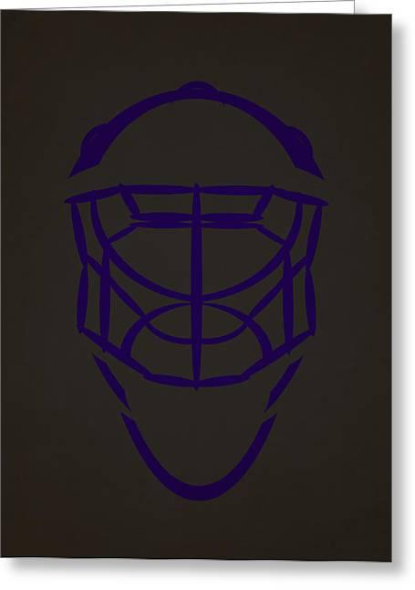 Los Angeles Kings Goalie Mask  Greeting Card by Joe Hamilton