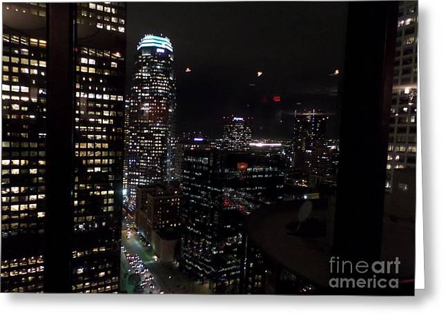 Los Angeles Nightscape Greeting Card