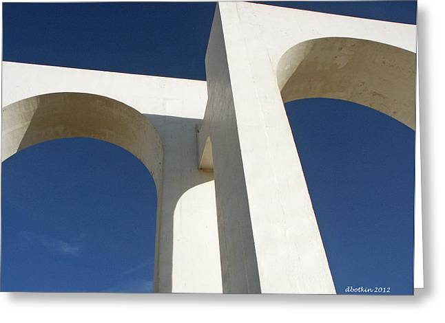 Greeting Card featuring the photograph Los Arcos by Dick Botkin
