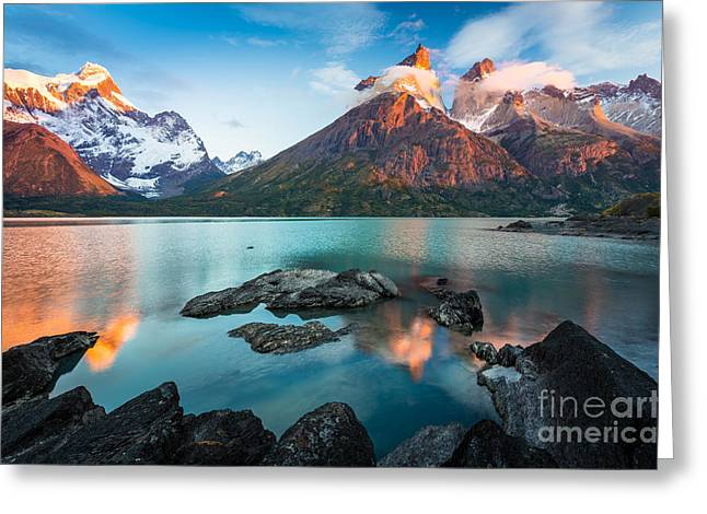Los Cuernos Dawn Greeting Card by Inge Johnsson