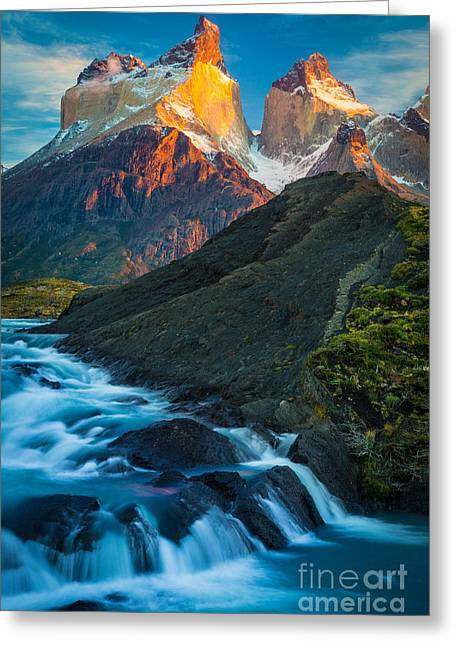 Los Cuernos Falls Greeting Card by Inge Johnsson