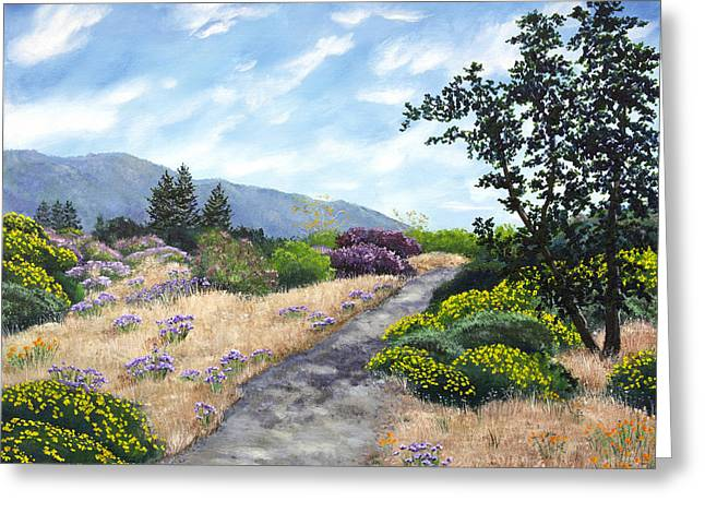 Los Gatos Trail Through Wildflowers Greeting Card
