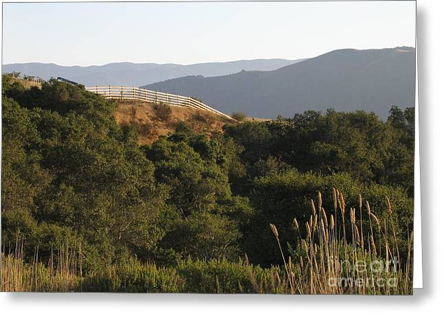 Greeting Card featuring the photograph Los Laureles Ridgeline by James B Toy