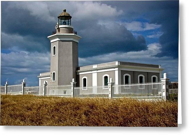 Los Morillos Lighthouse Greeting Card by Ricardo J Ruiz de Porras