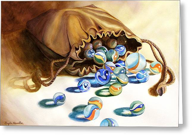 Losing My Marbles Greeting Card