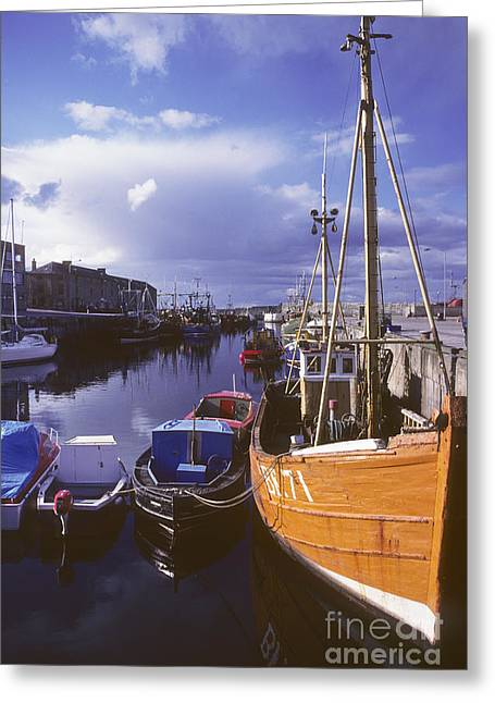 Lossiemouth Harbour - Scotland Greeting Card by Phil Banks