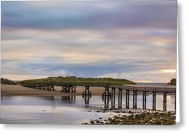 Lossiemouth Walk Bridge Greeting Card