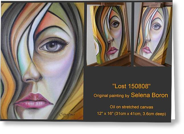 Greeting Card featuring the painting Lost 150808 by Selena Boron