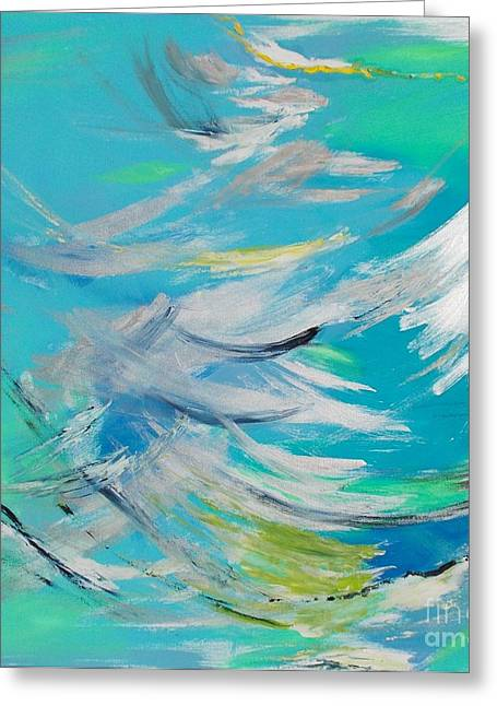 Greeting Card featuring the painting Lost At Sea by PainterArtist FIN