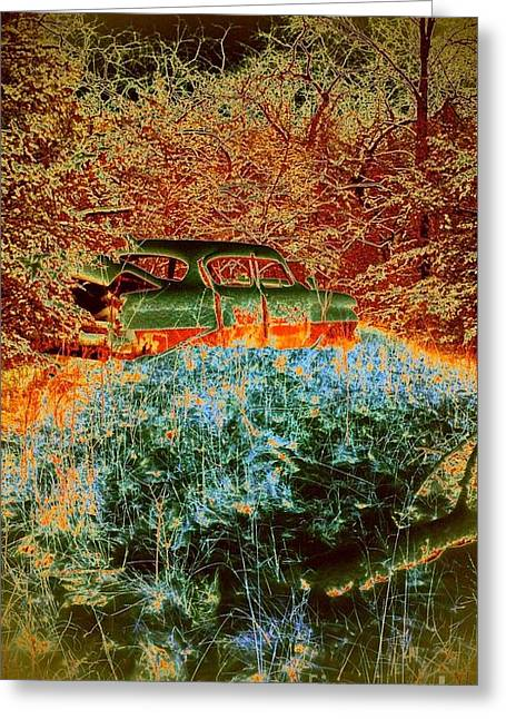 Greeting Card featuring the photograph Lost Car by Karen Newell