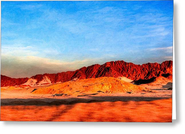 Lost Egyptian Landscape Greeting Card by Mark E Tisdale