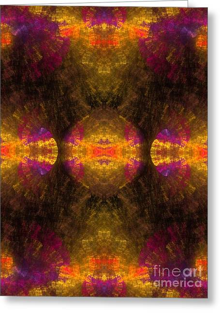 Greeting Card featuring the digital art Lost In Colors by Hanza Turgul
